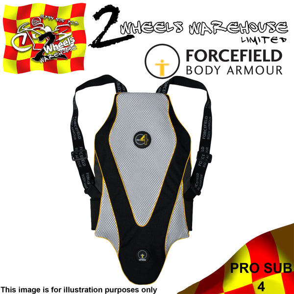 FORCEFIELD BODY ARMOUR PRO SUB 4 L2 BACK PROTECTOR CE LEVEL 2 SIZE S