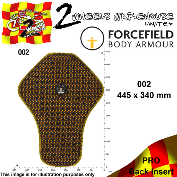 FORCEFIELD BODY ARMOUR PRO BACK INSERT L2 002 45cm x 34cm