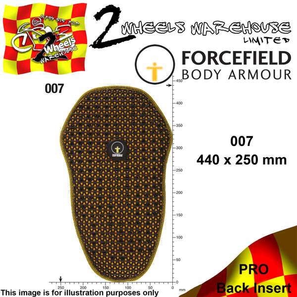 FORCEFIELD BODY ARMOUR PRO BACK INSERT L2 007 44cm x 25cm