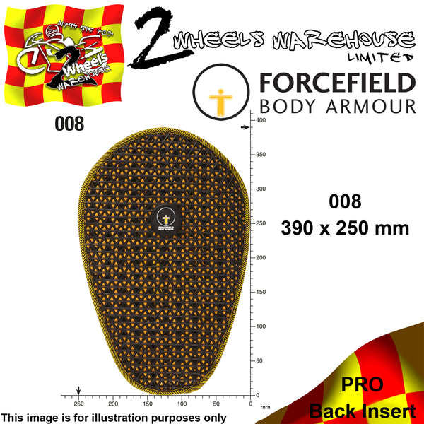 FORCEFIELD BODY ARMOUR PRO BACK INSERT L2 008 39cm x 25cm