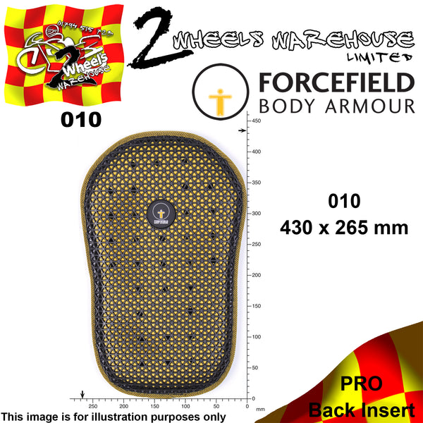 FORCEFIELD BODY ARMOUR PRO BACK INSERT L2 010 43cm x 27cm