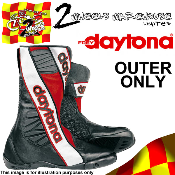 DAYTONA SECURITY EVO III 3 BOOTS RED OUTER SIZE EU 44 UK 9.5 TRACKDAY RACE