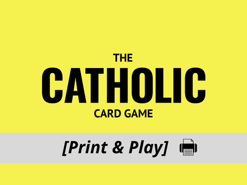 Catholic Card Game [Print & Play]
