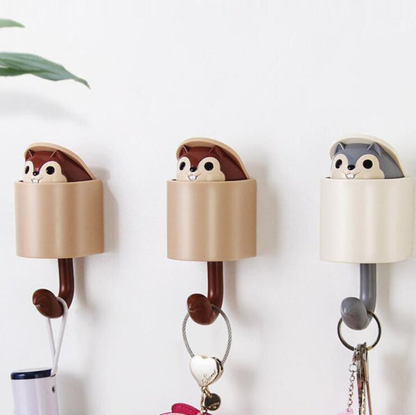 Cartoon Squirrel Hooks