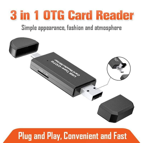 3 in 1 OTG Card Reader