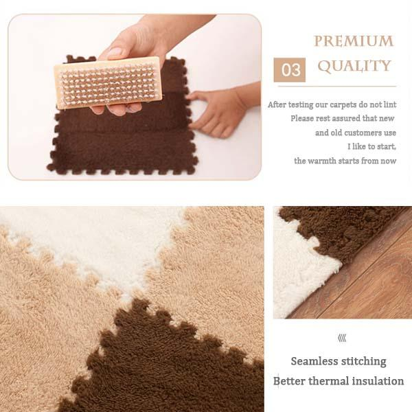 4PCS Puzzle Plush Splicing Mats