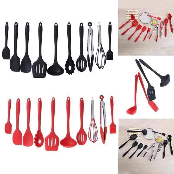 10 Piece Silicone Kitchen Utensil Set