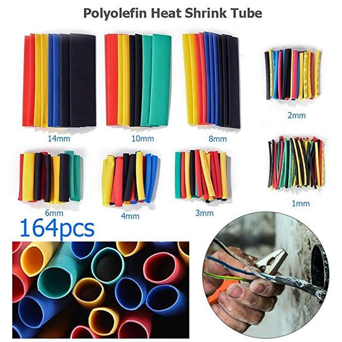 164PCS Flame retardant heat shrinkable tube