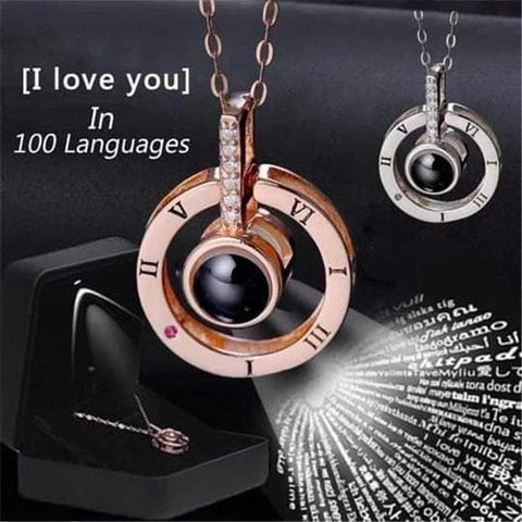 "100 languages ""I love you"" Necklace"