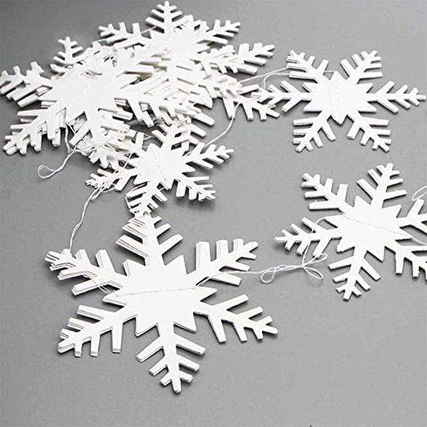 Three-dimensional Snowflake String (2pcs)