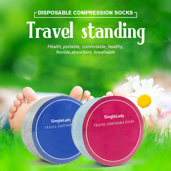 Disposable Travel Compression Socks for Men & Women