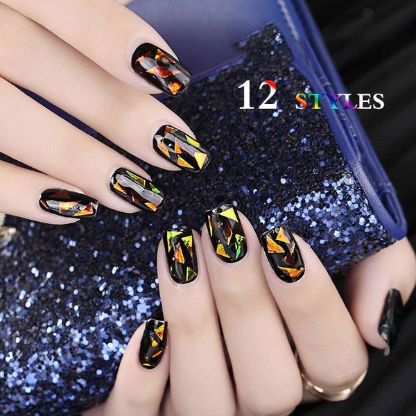 【Time-limited Lowest Price Sales】Nail Art Transfer Foils (Set of 12)