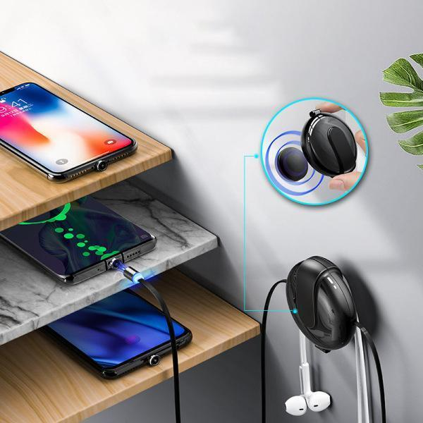 3-in-1 Magnetic Cable Connector Storage Box