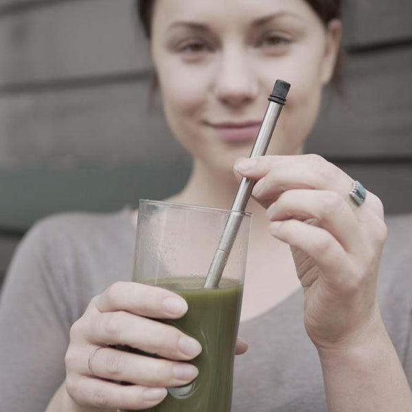 Collapsible Stainless Steel Straw with Case