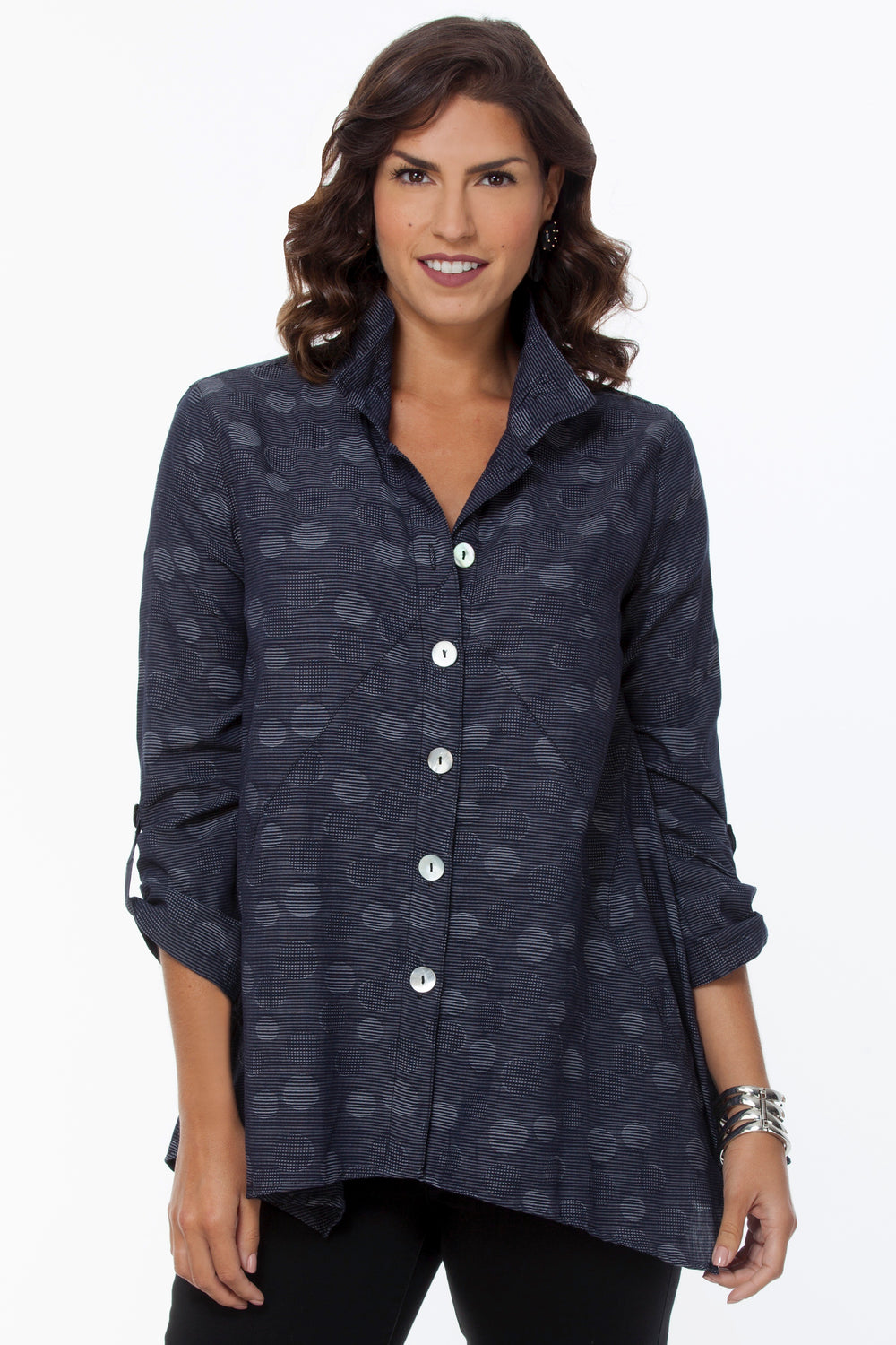 Ellie Shirt - Monochromatic Dots