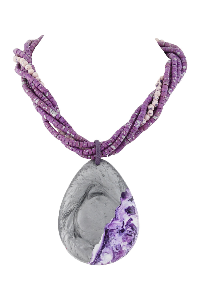 Purple Spell Necklace