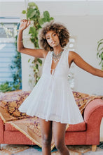 Load image into Gallery viewer, Daydreamer Mini Dress in Summer White