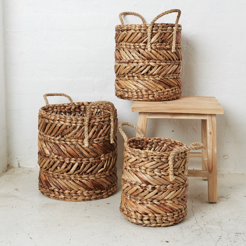 Mikal Natural Water Hyacinth Basket