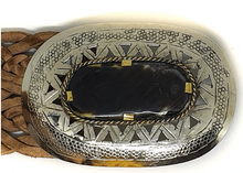 Load image into Gallery viewer, Marrakesh Wide Woven Belt with Detailed Buckle