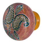 Load image into Gallery viewer, Hand Painted Wooden Door Knobs