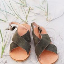 Load image into Gallery viewer, Olive Criss Cross Sandals