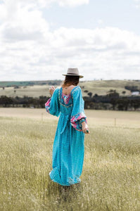 Wild West Maxi Dress ~ Horizon Blue
