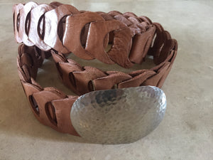 Leather Chain Link Belt