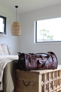 Quilted Leather Overnight Bag