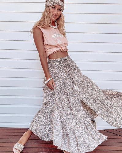 Almost Famous Skirt Sahara Leopard