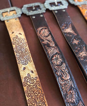 Load image into Gallery viewer, Hand Tooled Leather Belts