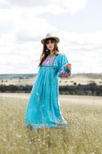 Load image into Gallery viewer, Wild West Maxi Dress ~ Horizon Blue
