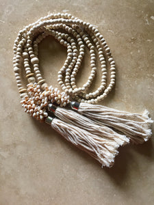 Beaded & shell tassel