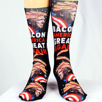 Bacon-America-Great-Again-Trump-Socks