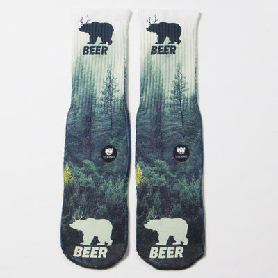 Bear-Beer-Socks-Flat-View