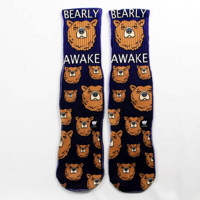 Bearly-Awake-Socks-Flat-View