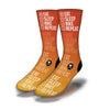 Bike-Sleep-Game-Repeat-Socks-Orange