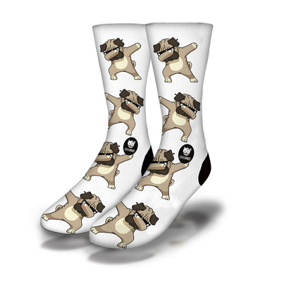 Dabbing-Doggy-Socks-White