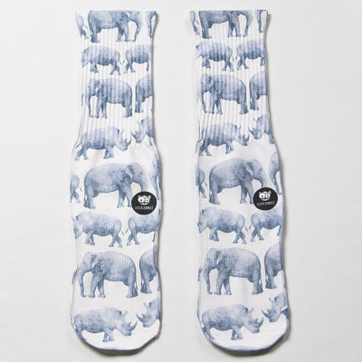Elephant-And-Rhino-Socks-Flat-View