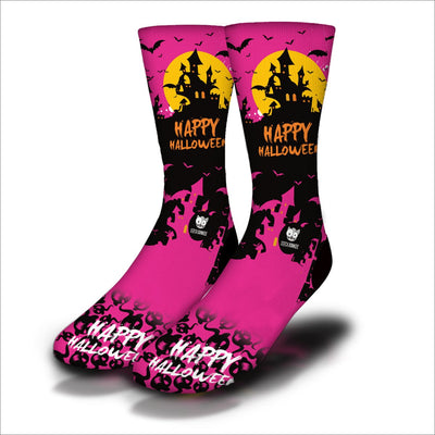 Haunted-House-Socks-Pink