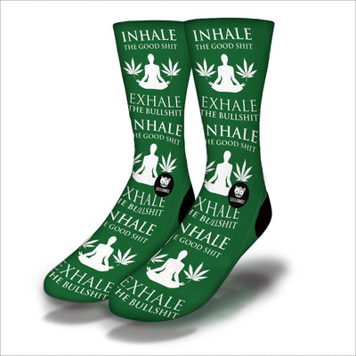 Inhale-Exhale-Socks-Green