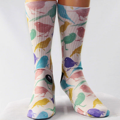 MultiColor-Bird-Socks