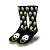 Panda-Gold-Chain-Socks-Black
