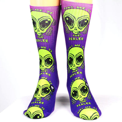 Take-Me-To-Your-Dealer-Alien-Socks
