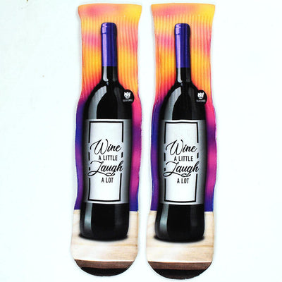 Wine-A-Little-Laugh-Alot-Socks-Flat-View