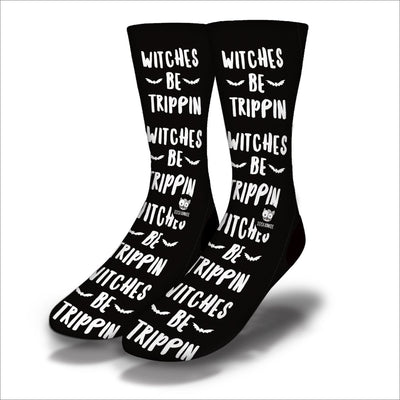 Witches-Be-Trippin-Socks-Black