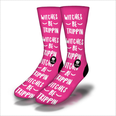 Witches-Be-Trippin-Socks-Pink