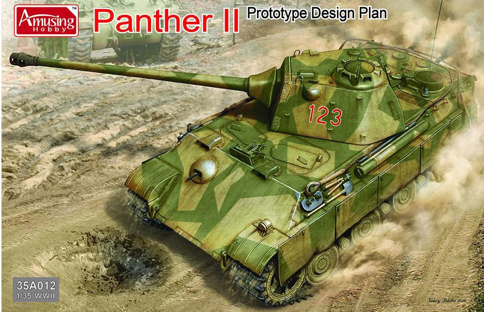 AMUSING HOBBY 35A012 Panther II Prototype Design Plan  1:35 Scale