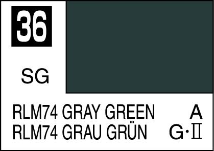 MR COLOR C36 RLM74 Gray Green Semi-Gloss 10ml