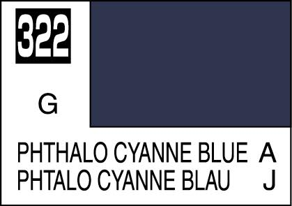 MR COLOR C322 Phthalo Cyanne Blue Gloss  10ml