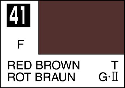 MR COLOR C41 Red Brown 3/4 Flat 10ml